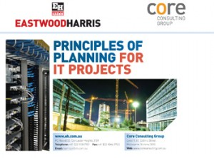 irst slide of the Eastwood Harris Principles of Planning for IT Projects course