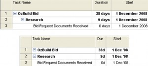change column width in ms project