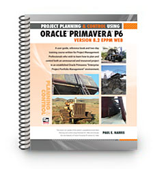 primavera P6 version 8.2 spiral bound training book