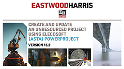 Create and Update an Unresourced Project using Elecosoft (Asta) Powerproject Version 15.2